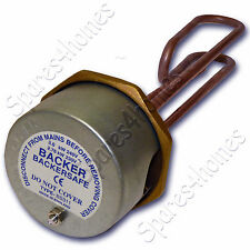 """11"""" Copper Immersion Heater Hot Water Cylinder Element + Thermostat Backersafe"""