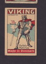 Ancienne  étiquette  Allumettes Danemark  BN23804 Viking Drakar Bateau