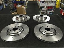 AUDI TT QUATTRO MK2 3.2V6 8J BRAKE DISC DRILLED GROOVED FRONT REAR