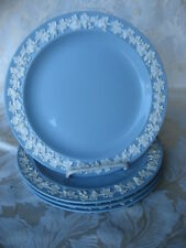 Fantastic Set of 4 Wedgewood Cream on Lavender Queensware Luncheon Plates 9 1/4""