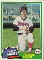 FREE SHIPPING-MINT-1981 Topps #311 Freddie Patek Angels PLUS BONUS CARDS