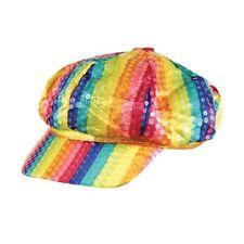 48a1e918f54b2 Pride Parade Rainbow Sequin Cap Fancy Dress Accessory