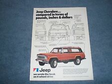 """1977 Jeep Cherokee Chief 4x4 Vintage Ad """"We Wrote the Book on 4-Wheel Drive"""""""