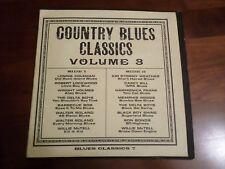 Country Blues Classics Vol. 3 LP Vinyl Album Blind Willie McTell Memphis Minnie