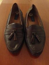 Panelli Made in Italy Men's Brown Leather Slip On Loafer Shoes, Size 11