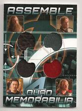 Avengers Assemble  Quad Costume Memorabilia  Thor & The Warriors Three   AQ-1