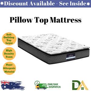 Pillow Top Soft Mattress Matress SINGLE Bed High Density Medium Firm Firmness