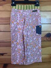 Matilda Jane Aster Straightees Pants Girls EUC Good Hart Cropped Pink Floral  4