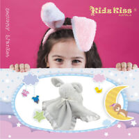 [3 Sets] Kidz Kiss Baby Security Blanket /  Comforter [Bunny Rabbit/ Grey]