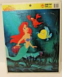 Vintage Disney Little Mermaid Frame Tray Puzzle (Golden) 4049B Ariel