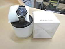 BERING MEN'S WATCH MULTIFUNCTIONAL STAINLESS STEEL CERAMIC w DAY/DATE GOOD COND