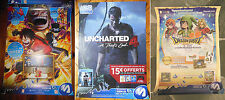 Poster One piece PW 3 - Uncharted 4 - Dragon quest 7 - Store Promo - PS - DS