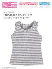 Azone Pureneemo PNXS Boys Tank Top Grey x White Blythe Pullip Momoko 1/6 Obitsu