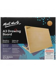 Mont Marte Drawing Board A3 with Band, Table Easel Stand Painting Art Hobby