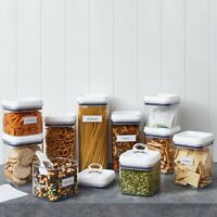 Better Homes & Gardens Flip Tite 10 Canister Set Food Storage Containers ~ NIB
