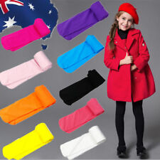 Girls Ballet Opaque Long Tights Pantyhose Socks Candy Color For Age 2-12 CSOCK82