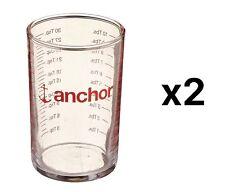 Fox Run Anchor Hocking 5oz Glass Cooking Baking Liquid Measuring Cup (2-Pack)
