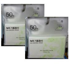 Oil Control Paper Green Tea 100 pcs Absorbing Tissue Face Blotting Made in Korea