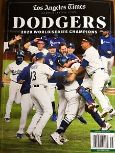 LOS ANGELES TIMES MAGAZINE- DODGERS WORLD SERIES CHAMPIONS 2020