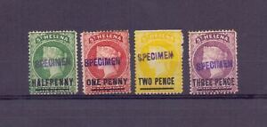 ST HELENA 1884-1984 SPECIMENS ½d, 1d, 2d, 3d MH