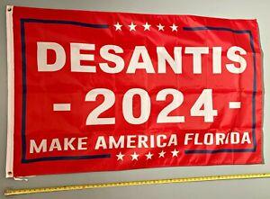 RON DESANTIS FLAG FREE SHIP USA SELLER! Make America Florida R 2024 USA Sign 3x5