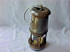 ORIGINAL VINTAGE WOLF MINERS SAFETY LAMP SHEFFIELD BRASS & STEEL TYPE FS