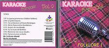 Karaoke CD+G Folklore 1 Francais Vol.9 CDG BRAND NEWat MusicaMonette from Canada