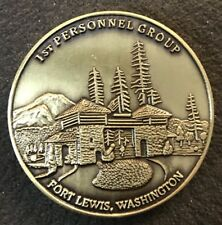 US Army ~ 1st Personnel Group ~ Fort Lewis ~ Challenge Coin (VINTAGE~ AUTHENTIC)