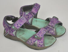 MERRELL Surf Strap SANDAL 2.0 Water Shoe FLORAL Gray PURPLE Sz 1M Girl's