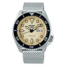 NEW Seiko 5 Sports Men's Black Bezel Dive Watch SRPD67 Automatic Mesh Strap