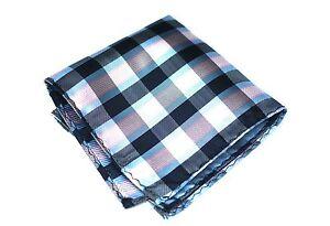 Lord R Colton Masterworks Pocket Square - Black Blue Pink Check - $75 New
