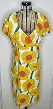 Pretty Ladies BODEN White Yellow Bright Colourful Cotton Dress UK 14 Holidays
