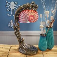 Colorful Nautical Seashell Mermaid Art Deco Lighted Sculpture Lamp
