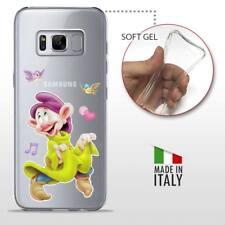 Samsung Galaxy S8 CASE COVER PROTETTIVA TRASPARENTE Disney Biancaneve Cucciolo