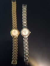 Two Lady's Quartz Watches. Running With New Batteries