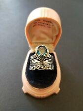 Or Paz Israel Sterling Silver Blue Topaz Teardrop Ring Size 8