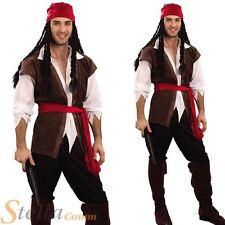 Pour Hommes Caraïbes Costume Pirate Capitaine Adulte Déguisement Fête Halloween