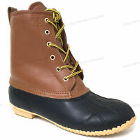 Brand New Mens Boots Leather Insulated Waterproof 5-Eyelet Snow Winter Duck Shoe
