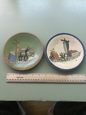 Two Arias Mexican Folk Art Dishes