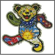 Grateful Dead Dancing Bear Counted Cross Stitch COMPLETE KIT #23-108