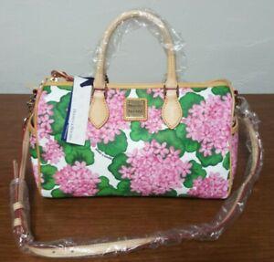 NEW DOONEY & BOURKE BAG pink FLORAL HYDRENGEA side pocket satchel purse bag
