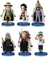 Set Completo 6 Mini Figuras 8cm one piece World Collectable Serie 2 Wcf