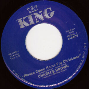 """CHARLES BROWN - Please Come Home For Christmas  7"""" 45"""