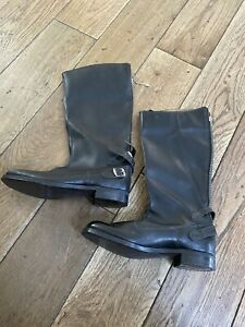1970's New old Stock Goldtop  High Leg Motorcycle Boots UK Size 7 Rockers