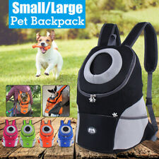 Pet Foldable Backpack   Cat Puppy Dog Carrier Adjustable Strap Travel   NEW