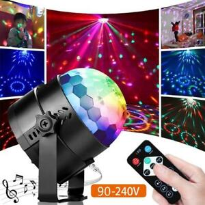 Ball Disco Party Led Activated Sound Lights Rotating Strobe Dj Light Rgb Dance