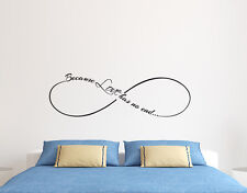 Wall Decal Infinity Sign Quote Love Has not End Vinyl Stickers For Bedroom FD17