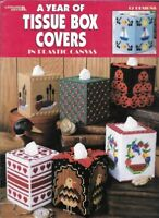 A Year of TISSUE BOX COVERS in Plastic Canvas Leisure Arts 1809 Boutique Style