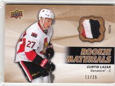 14-15 Upper Deck Rookie Materials Jersey Patch #35 Curtis Lazar Senators /25