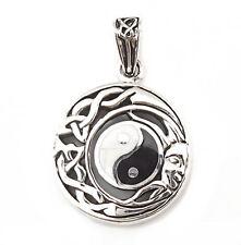 .925 plata esterlina sólida Yin Yang Sun & Moon femenino Diosa Colgante P027